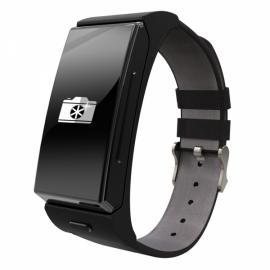 U20 U Mini Smart Watch with Heart Rate and Bluetooth Headphone Black