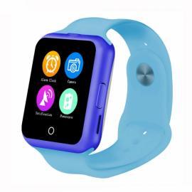 NO.1 D3 1.22-inch MTK6261 GSM SIM Card Bluetooth Smart Watch Blue