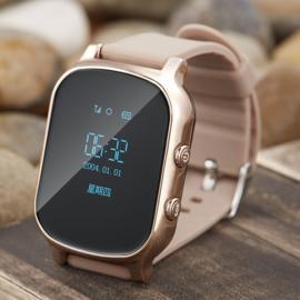 T58 Kid Safety GPS Tracker Smart Locating Watch Golden
