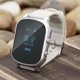 T58 Kid Safety GPS Tracker Smart Locating Watch Silver