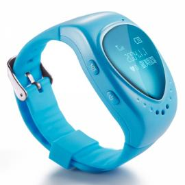 DMDG Kid's GPS Watch Tracker with GPS Tracker / Monitor / SOS Alarm / Smart Phones APP Tracking Blue