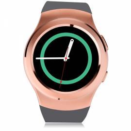 NO.1 G3 Full Round Screen SIM Card Heart Rate Sensor Bluetooth V4.0 Smart Watch Golden