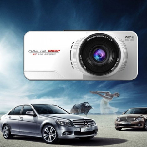 Full HD WDR 1080P AT66A 2.7 inch LCD G-Sensor Night Vision Car DVR Camcorder Dash Cam Silver
