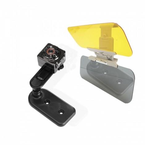 1080P Full HD Car DVR+Anti-Glare Dazzling Goggle Day & Night Vision Driving Mirror Sun Visor