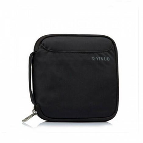 32-Sheet Portable Waterproof Square Oxford Fabric Disc CD DVD VCD Wallet Storage Organizer Holder Bag Black
