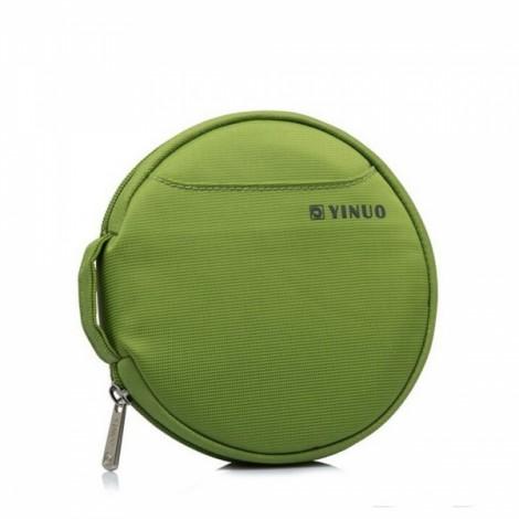 32-Sheet Portable Waterproof Oxford Fabric Disc CD DVD VCD Wallet Storage Organizer Holder Bag Green