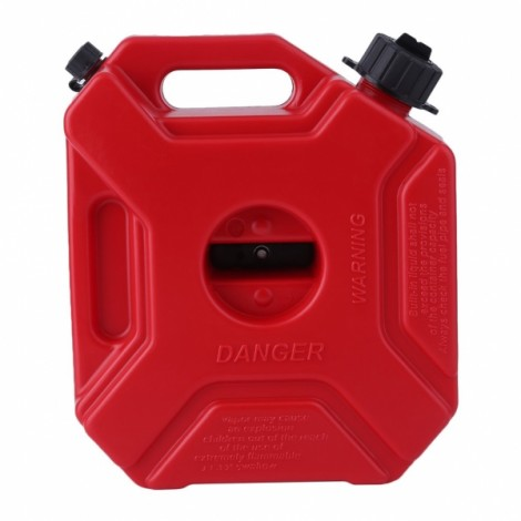 LONG-HAUL 5L Anti-static Spare Jugs Gasoline Oil Container Petrol Fuel Tank Can for Motorcycle Red