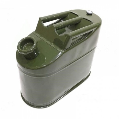 5L Iron Cap 0.6mm Cold-rolled Steel Petrol Diesel Can Gasoline Bucket Spare Fuel Tank 3 Handles with Deflation Valve