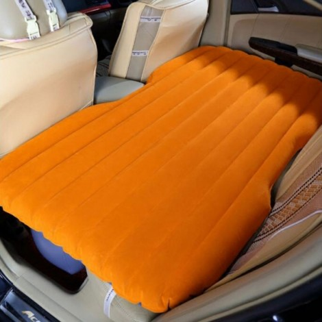 Self-drive Inflatable Car Bed Air Mattress without Ear Orange