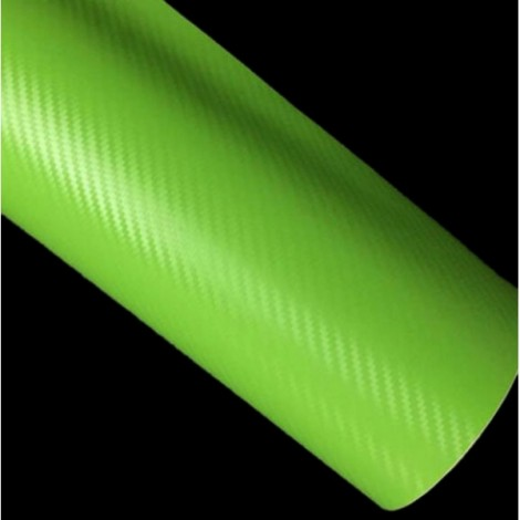 127 x 30cm DIY Personalized 3D Car Sticker Carbon Fiber Film Vinyl Green