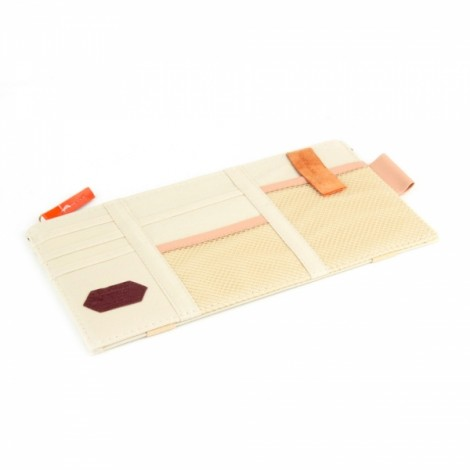 Multifunction Car Sun Visor Storage Pocket Organizer Bag Pouch Card Holder Beige
