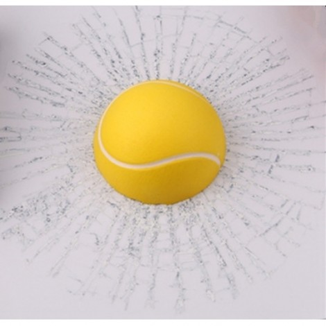 Car Styling 3D Tennis Hits Funny Car Sticker Decal Yellow
