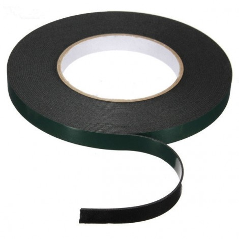 12MM x 10M x 1MM Strong Waterproof Adhesive Double Sided Foam Tape Car Trim Plate