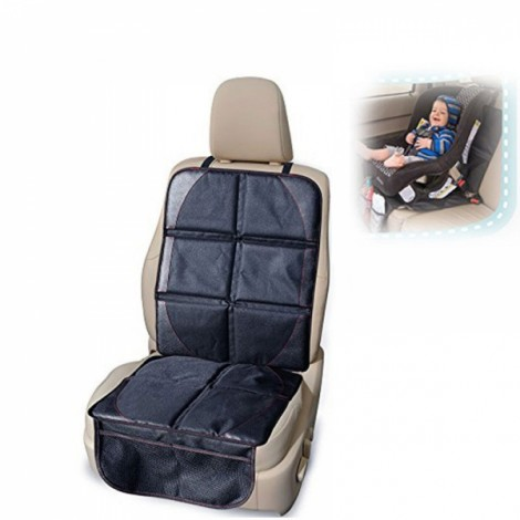 Child Baby Oxford Auto Car Seat Antiskid Protector Mat Safety Seat Cushion Black