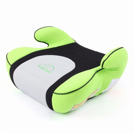 Portable Car Seat Safety Cushion Mat for 3-12 Years Old Baby Child Green