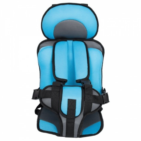 Portable Thickened Baby Child Safety Car Seat Light Blue L