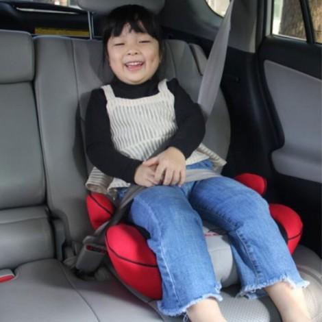 Portable Car Seat Safety Cushion Mat for 3-12 Years Old Baby Child Red