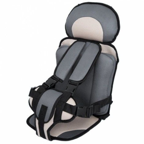 Portable Thickened Baby Child Safety Car Seat Beige & Gray S