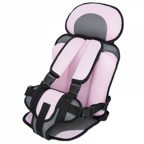 Portable Thickened Baby Child Safety Car Seat Pink L