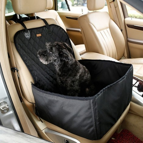 Pet Car Carrier Storage Bag Waterproof Seat Cover for Travel 45 x 45 x 58CM Black
