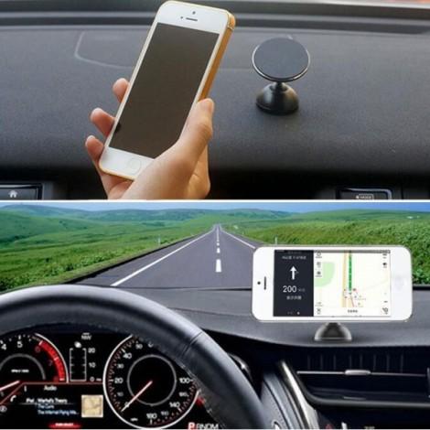 Universal 360 Degrees Rotatable Nanometer Car Mount Phone Holder for Cellphone Black