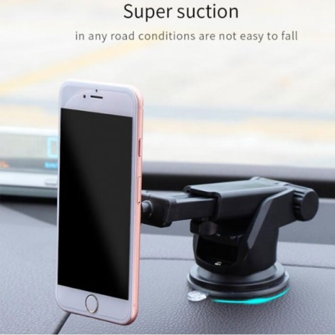 MEIDI Magnetic Phone Holder Stand Suction Car Center Console Windshield for iPhone Samsung Xiaomi Blue