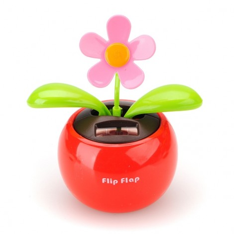 Car Toy Flip Swing Flap Solar Powered Flower Random Color