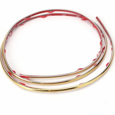 5m Flexible Trim Fashion Car Interior & Exterior Moulding Strip Decorative Line Gold
