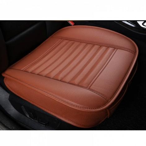 PU Leather Cushion Car Seat Cover Side Full Cover Seats Protect Mat Orange