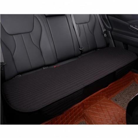 Universal Linen Ventilated Breathable Nonslip Car Backseat Rear Seat Cushion Cover Pad Mat - Black