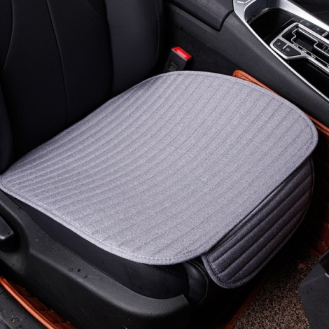 Universal Linen Ventilated Breathable Nonslip Car Front Seat Cushion Cover Pad Mat - Gray