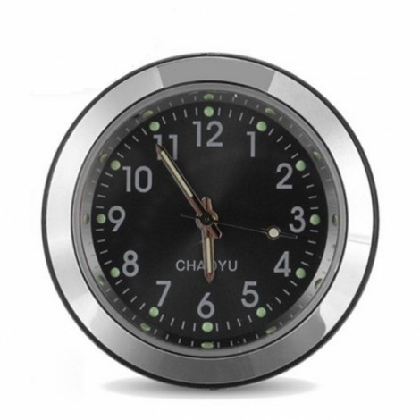 Car A/C Vent Clip Thermometer Clock Gauge Trim Perfume Refill Storage Fragrance with 140g Perfume-Black Clock