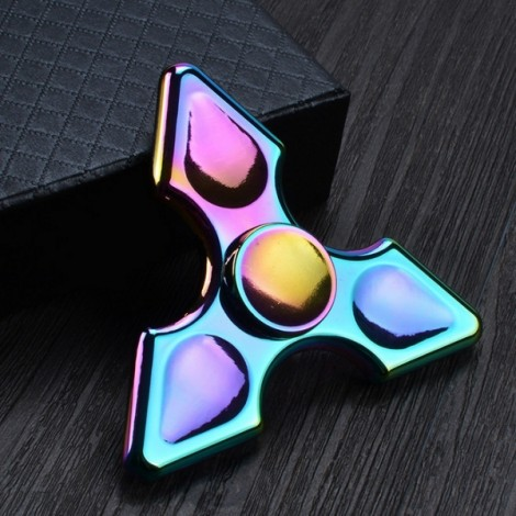 Colorful EDC Hand Spinner Finger Spinner Fidget Gadget Focus Reduce Stress Gadget Triangle Pointed Style