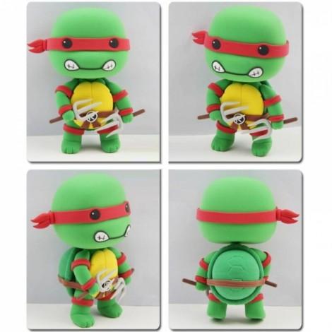 Teenage Mutant Ninja Turtles Raphael Model Ultralight 3D Colored Modeling Clay DIY Intelligence Toy
