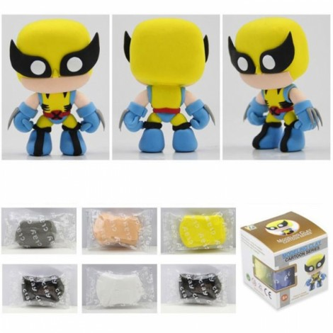 Wolverine Model Ultralight 3D Colored Modeling Clay DIY Intelligence Toy