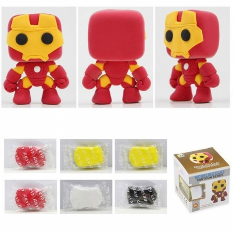 Iron Man Model Ultralight 3D Colored Modeling Clay DIY Intelligence Toy