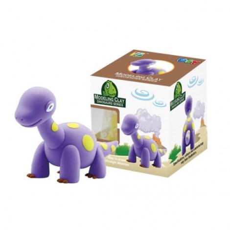 BN9986-4 Jurassic Dinosaur Model Ultralight 3D Colored Modeling Clay DIY Intelligence Toy