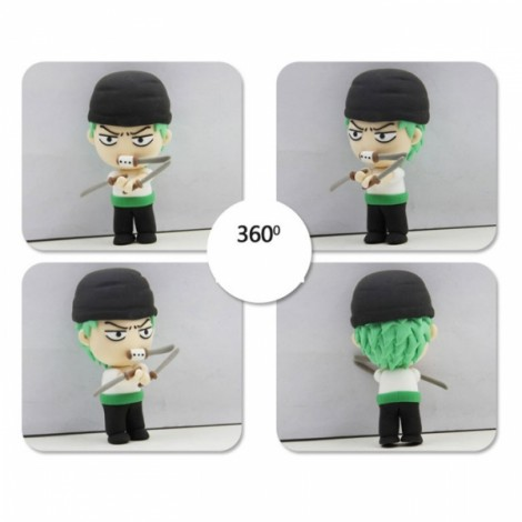 One Piece Zoro Model Ultralight 3D Colored Modeling Clay DIY Intelligence Toy