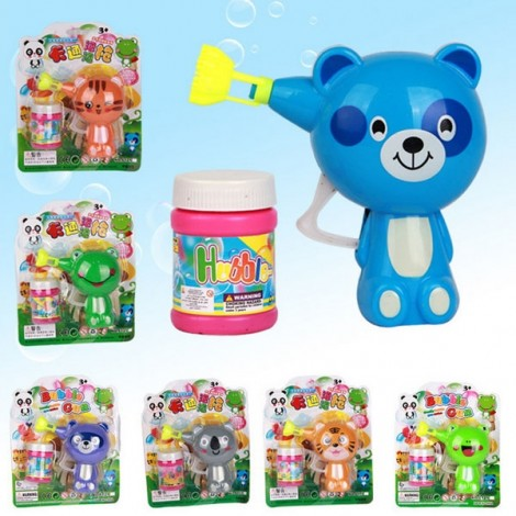 Cute Creative Animal Style Cartoon Automatic Colorful Soap Bubble Gun Random Color & Pattern