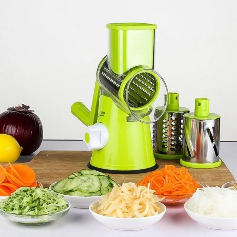 Manual Hand Multifunction Vegetable Food Cutter Round Slicer Potato Salad Carrot Grater - Green only 27.99$ free shipping