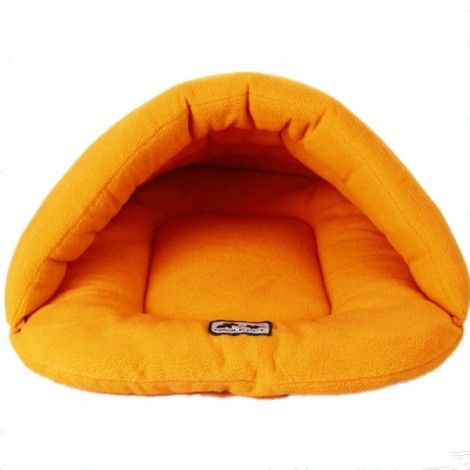 Pet Cat Dog Sleeping Bag Cushion Warm Comfortable House Kennel Bed XS Orange