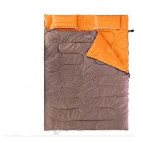 NatureHike Envelope Style Adult Double Sleeping Bag with Pillow Gray