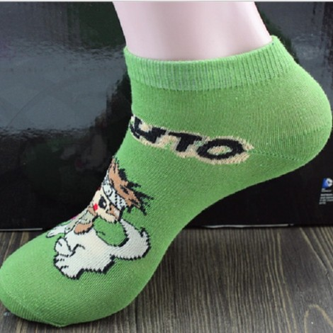 Cute Japan Anime Naruto Socks Uzumaki Naruto Print Cotton Socks #5 Inuzuka Kiba & Akamaru