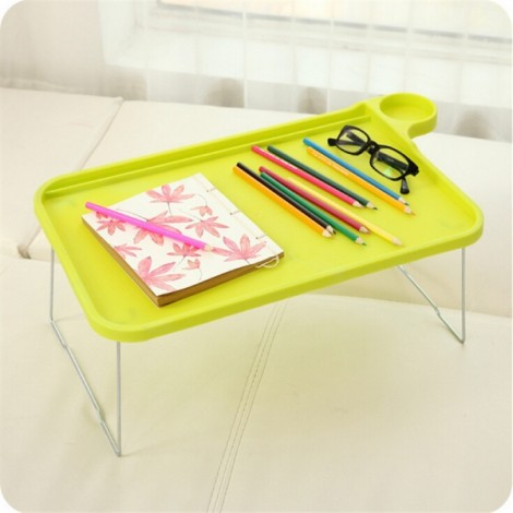 Foldable Plastic Notebook Desk Laptop Table Desk Stand Small Desk for Bed Office Furniture Green