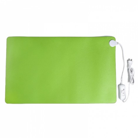 Electric Heating Pad Warm Mat for Computer Desk Office Table 60x36cm Green