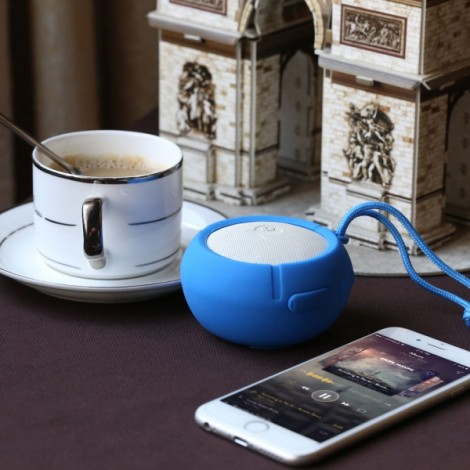 Ausdom AS2 Waterproof Silicone Portable Bluetooth Speaker Blue
