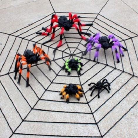 75cm Halloween Bar KTV Decoration Big Plush Funny Tricky Toy Spider Multicolor