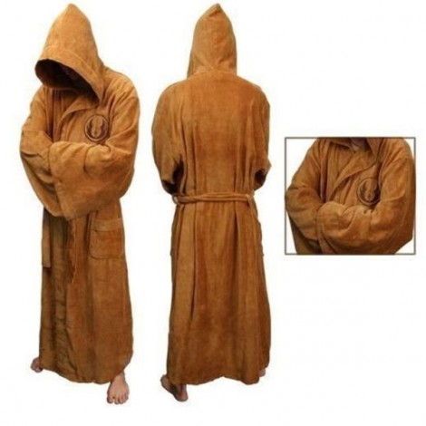 Star Wars Darth Vader Coral Fleece Terry Jedi Adult Bathrobe Men Sleepwear Halloween Cosplay Costume Brown L