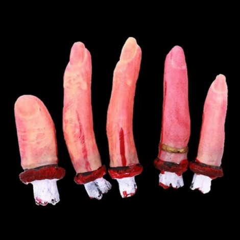 Halloween Horror Props Bloody 5 Fingers Haunted House Party Decoration Scary Faked Human Arm Finger Leg Foot