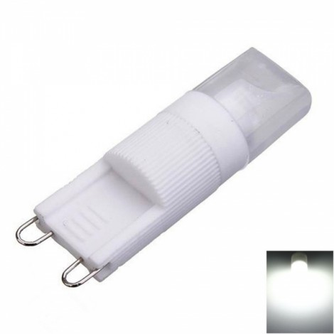 G9 5W 1 x COB 270LM 6000-6500K White Light Dimmable LED Corn Lamp (AC110V)